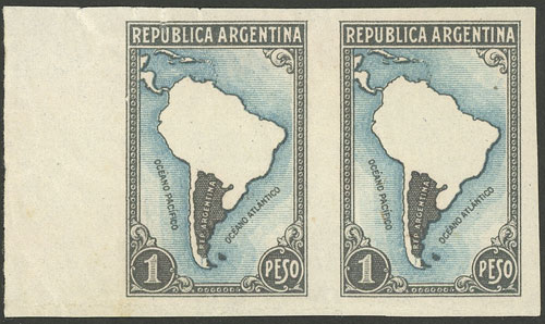 Lot 489 - Argentina general issues -  Guillermo Jalil - Philatino Auction # 1918 ARGENTINA: