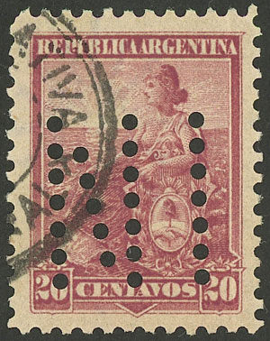 Lot 244 - Argentina general issues -  Guillermo Jalil - Philatino Auction # 1918 ARGENTINA: