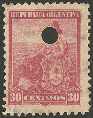 Lot 249 - Argentina general issues -  Guillermo Jalil - Philatino Auction # 1918 ARGENTINA: