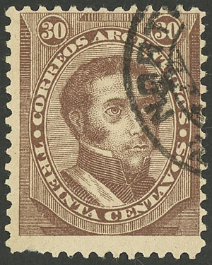 Lot 123 - Argentina general issues -  Guillermo Jalil - Philatino Auction # 1918 ARGENTINA: