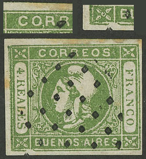 Lot 8 - Argentina cabecitas -  Guillermo Jalil - Philatino Auction # 1918 ARGENTINA:
