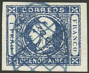 Lot 9 - Argentina cabecitas -  Guillermo Jalil - Philatino Auction # 1918 ARGENTINA: