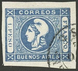 Lot 5 - Argentina cabecitas -  Guillermo Jalil - Philatino Auction # 1918 ARGENTINA: