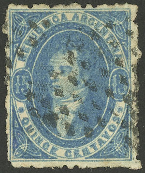 Lot 73 - Argentina rivadavias -  Guillermo Jalil - Philatino Auction # 1918 ARGENTINA:
