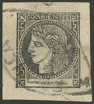 Lot 29 - Argentina corrientes -  Guillermo Jalil - Philatino Auction # 1918 ARGENTINA: