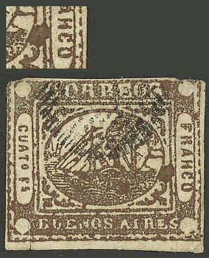 Lot 3 - Argentina barquitos -  Guillermo Jalil - Philatino Auction # 1918 ARGENTINA: