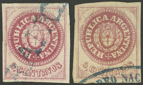 Lot 49 - Argentina escuditos -  Guillermo Jalil - Philatino Auction # 1918 ARGENTINA: