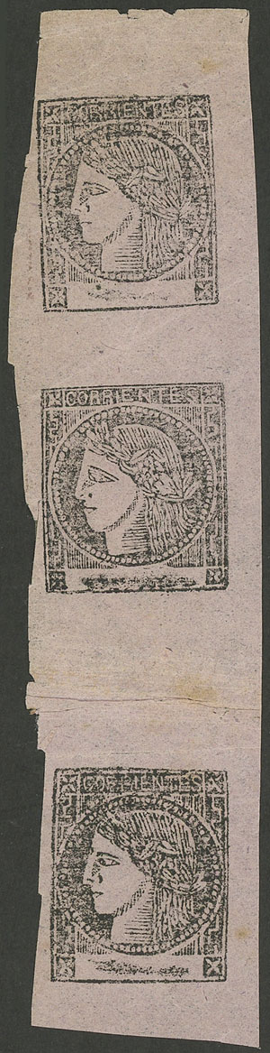 Lot 25 - Argentina corrientes -  Guillermo Jalil - Philatino Auction # 1918 ARGENTINA: