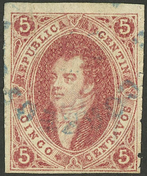 Lot 58 - Argentina rivadavias -  Guillermo Jalil - Philatino Auction # 1918 ARGENTINA: