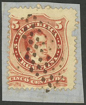 Lot 35 - Argentina general issues -  Guillermo Jalil - Philatino Auction #1919 ARGENTINA: Small selection of good lots