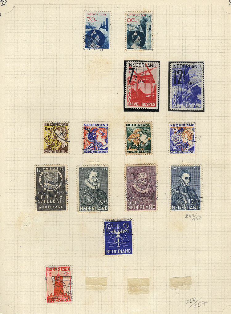 Lot 1110 - Netherlands Lots and Collections -  Guillermo Jalil - Philatino Auction #1920 WORLDWIDE + ARGENTINA: General May auction