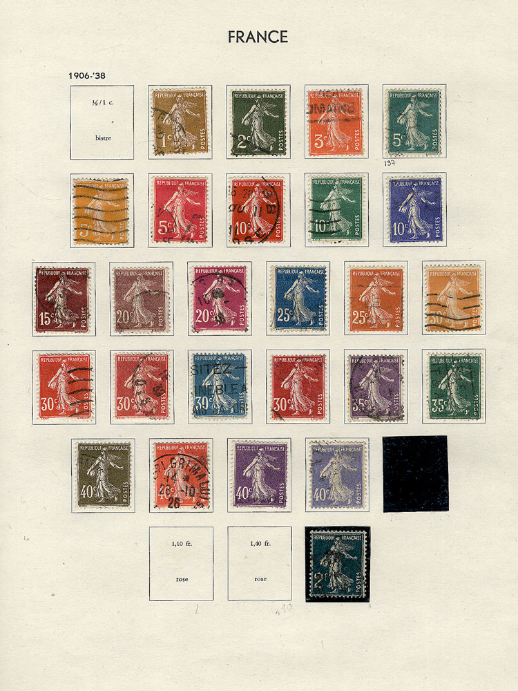 Lot 1077 - France Lots and Collections -  Guillermo Jalil - Philatino Auction #1920 WORLDWIDE + ARGENTINA: General May auction