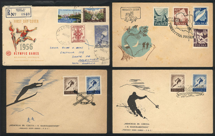 Lot 6 - topic sport Lots and Collections -  Guillermo Jalil - Philatino Auction #1920 WORLDWIDE + ARGENTINA: General May auction
