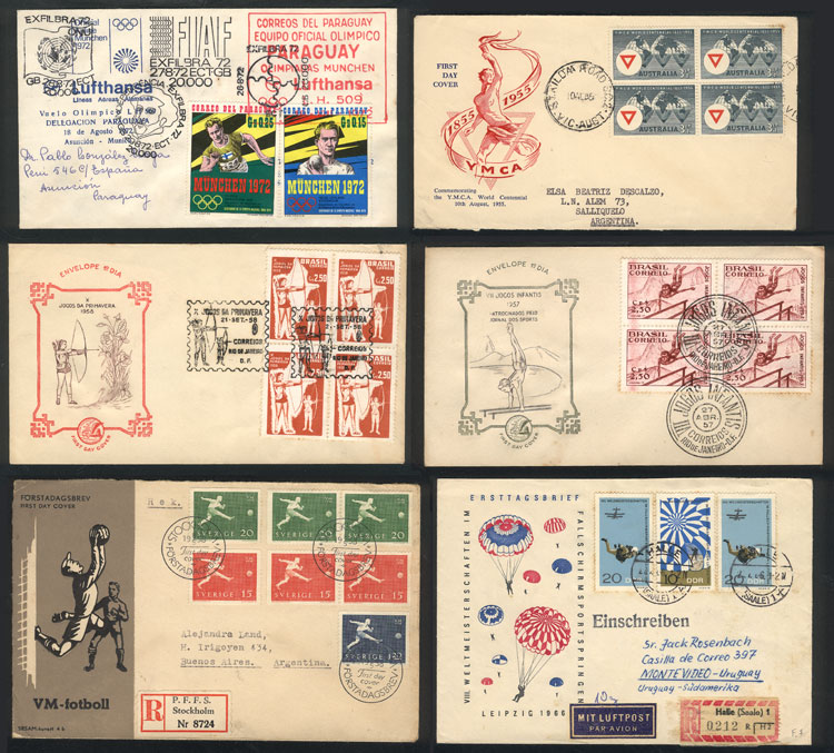 Lot 13 - topic sport Lots and Collections -  Guillermo Jalil - Philatino Auction #1920 WORLDWIDE + ARGENTINA: General May auction