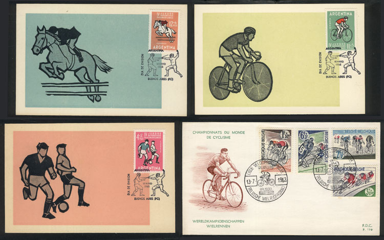 Lot 10 - topic sport Lots and Collections -  Guillermo Jalil - Philatino Auction #1920 WORLDWIDE + ARGENTINA: General May auction