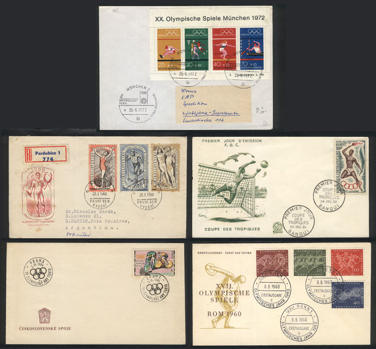 Lot 8 - topic sport Lots and Collections -  Guillermo Jalil - Philatino Auction #1920 WORLDWIDE + ARGENTINA: General May auction