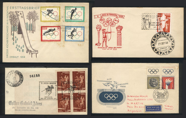 Lot 7 - topic sport Lots and Collections -  Guillermo Jalil - Philatino Auction #1920 WORLDWIDE + ARGENTINA: General May auction