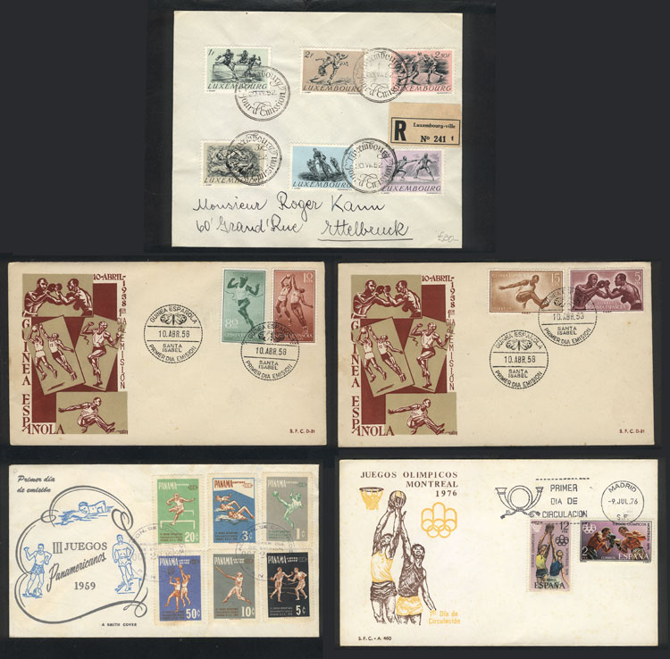 Lot 5 - topic sport Lots and Collections -  Guillermo Jalil - Philatino Auction #1920 WORLDWIDE + ARGENTINA: General May auction