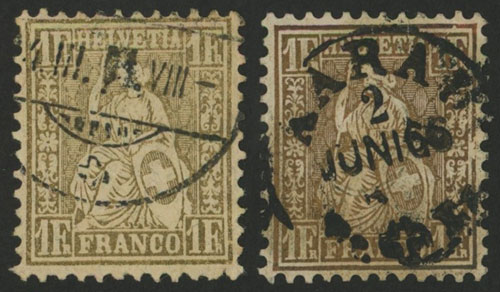 Lot 1362 - Switzerland general issues -  Guillermo Jalil - Philatino Auction #1920 WORLDWIDE + ARGENTINA: General May auction