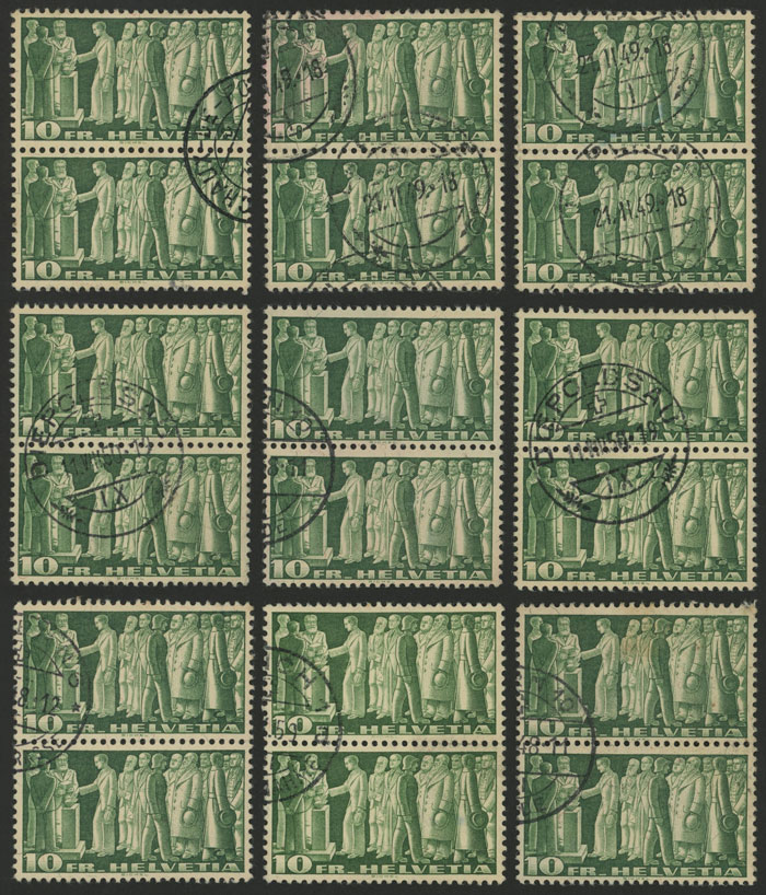 Lot 1366 - Switzerland general issues -  Guillermo Jalil - Philatino Auction #1920 WORLDWIDE + ARGENTINA: General May auction