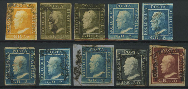 Lot 1180 - Italy sicilia -  Guillermo Jalil - Philatino Auction #1920 WORLDWIDE + ARGENTINA: General May auction