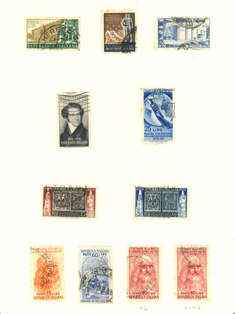 Lot 1217 - Italy Lots and Collections -  Guillermo Jalil - Philatino Auction #1920 WORLDWIDE + ARGENTINA: General May auction