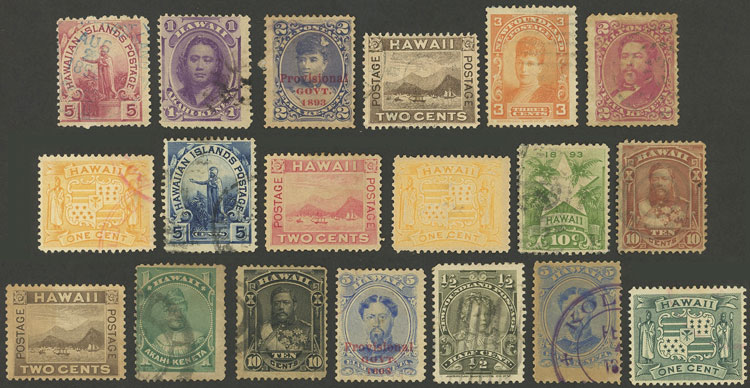 Lot 1054 - united states - hawaii Lots and Collections -  Guillermo Jalil - Philatino Auction #1920 WORLDWIDE + ARGENTINA: General May auction