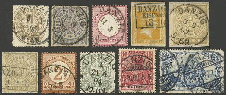 Lot 223 - germany - danzig Lots and Collections -  Guillermo Jalil - Philatino Auction #1920 WORLDWIDE + ARGENTINA: General May auction
