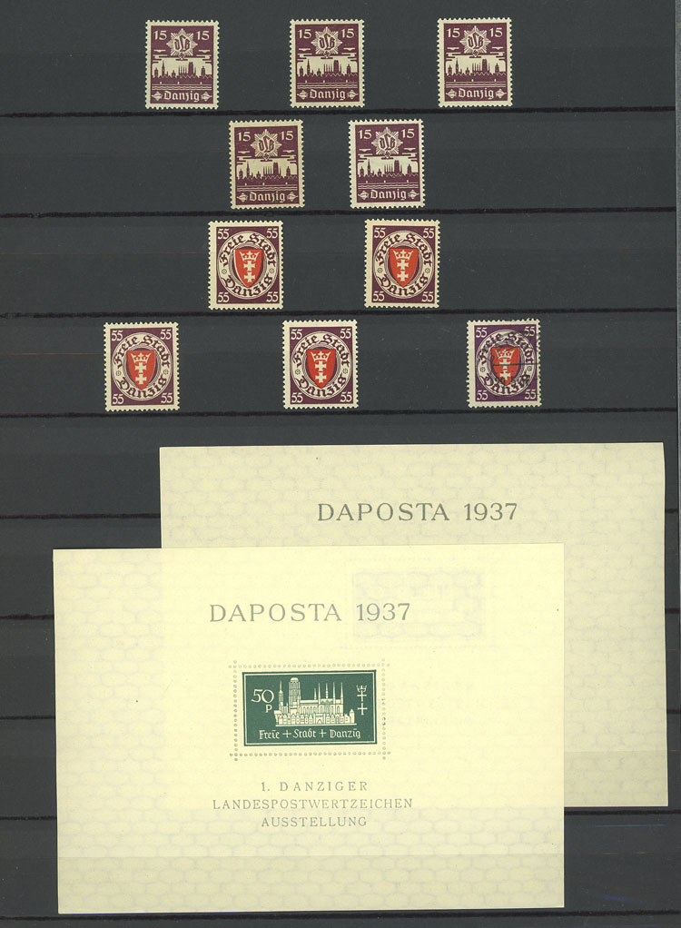 Lot 224 - germany - danzig Lots and Collections -  Guillermo Jalil - Philatino Auction #1920 WORLDWIDE + ARGENTINA: General May auction