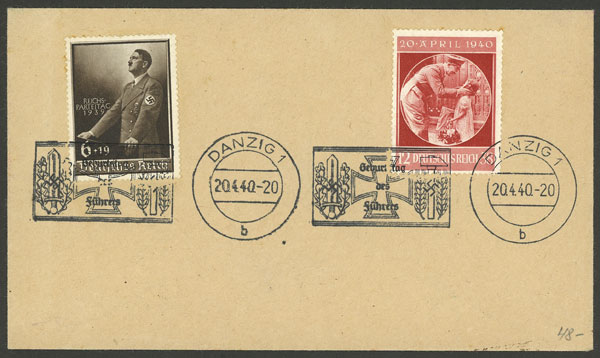 Lot 222 - germany - danzig postal history -  Guillermo Jalil - Philatino Auction #1920 WORLDWIDE + ARGENTINA: General May auction
