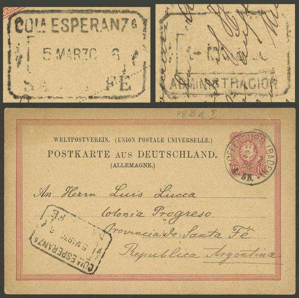 Lot 602 - Argentina postal history -  Guillermo Jalil - Philatino Auction #1920 WORLDWIDE + ARGENTINA: General May auction