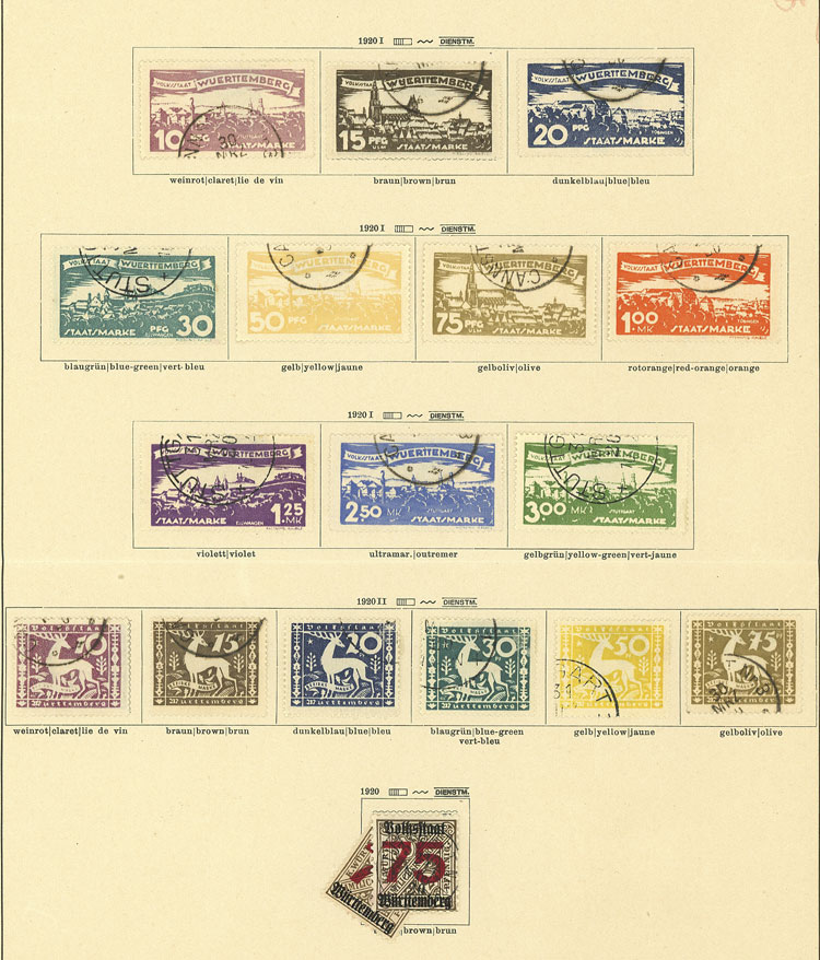 Lot 64 - germany Wurttemberg -  Guillermo Jalil - Philatino Auction #1920 WORLDWIDE + ARGENTINA: General May auction
