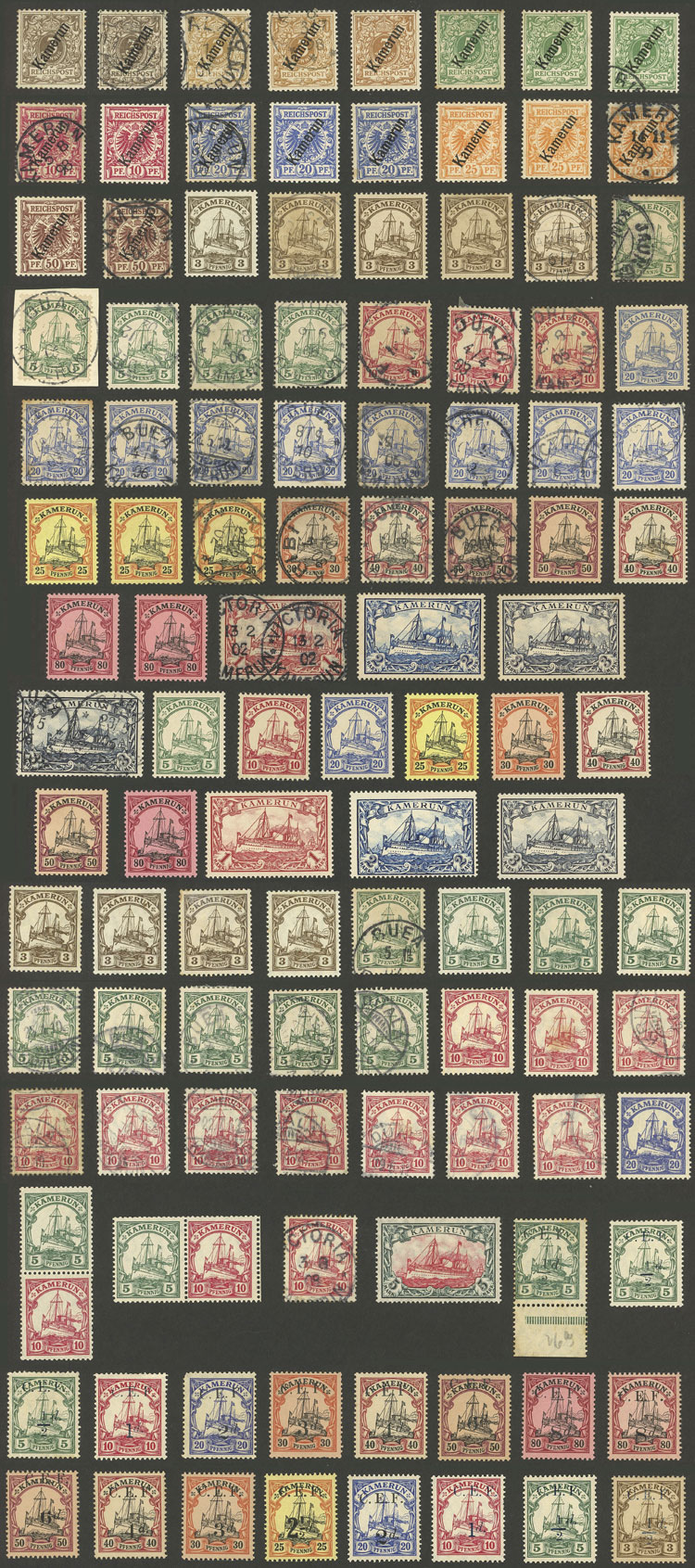 Lot 207 - GERMANY - CAMEROON Lots and Collections -  Guillermo Jalil - Philatino Auction #1920 WORLDWIDE + ARGENTINA: General May auction