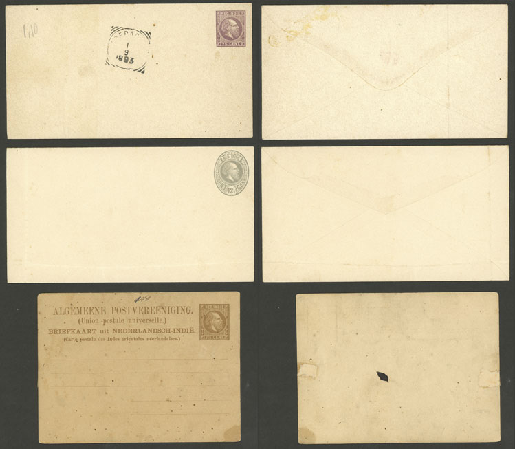 Lot 1131 - Netherlands Indies Postal stationery -  Guillermo Jalil - Philatino Auction #1920 WORLDWIDE + ARGENTINA: General May auction