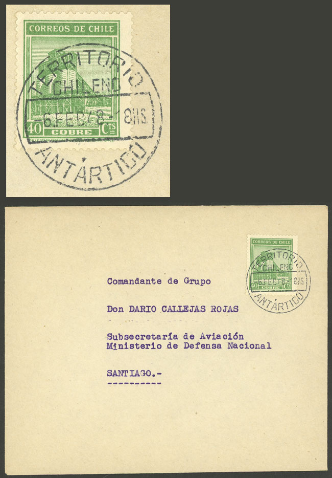 Lot 257 - CHILEAN ANTARCTICA postal history -  Guillermo Jalil - Philatino Auction #1920 WORLDWIDE + ARGENTINA: General May auction