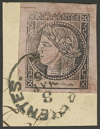 Lot 301 - Argentina corrientes -  Guillermo Jalil - Philatino Auction #1920 WORLDWIDE + ARGENTINA: General May auction