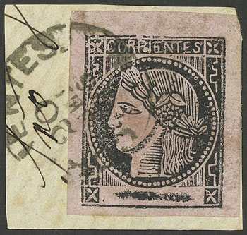 Lot 300 - Argentina corrientes -  Guillermo Jalil - Philatino Auction #1920 WORLDWIDE + ARGENTINA: General May auction