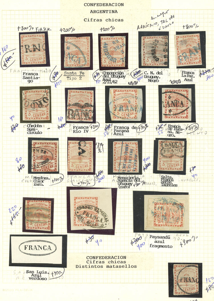 Lot 314 - Argentina confederation -  Guillermo Jalil - Philatino Auction #1920 WORLDWIDE + ARGENTINA: General May auction