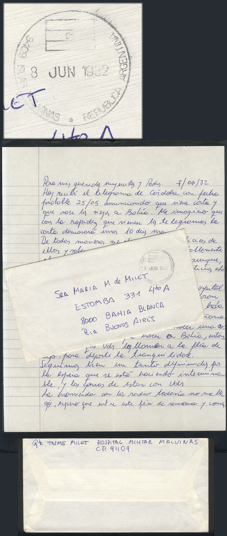 Lot 1253 - falkland islands (malvinas) postal history -  Guillermo Jalil - Philatino Auction #1920 WORLDWIDE + ARGENTINA: General May auction