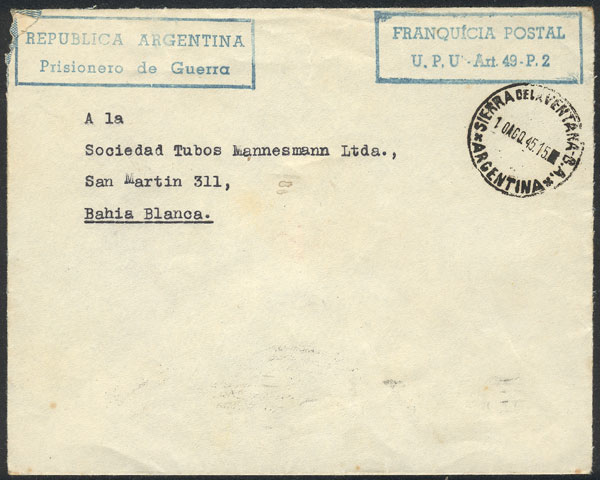 Lot 725 - Argentina postal history -  Guillermo Jalil - Philatino Auction #1920 WORLDWIDE + ARGENTINA: General May auction