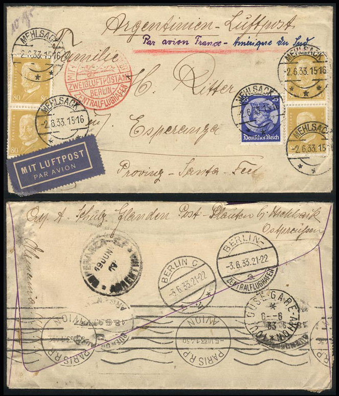 Lot 131 - germany postal history -  Guillermo Jalil - Philatino Auction #1920 WORLDWIDE + ARGENTINA: General May auction
