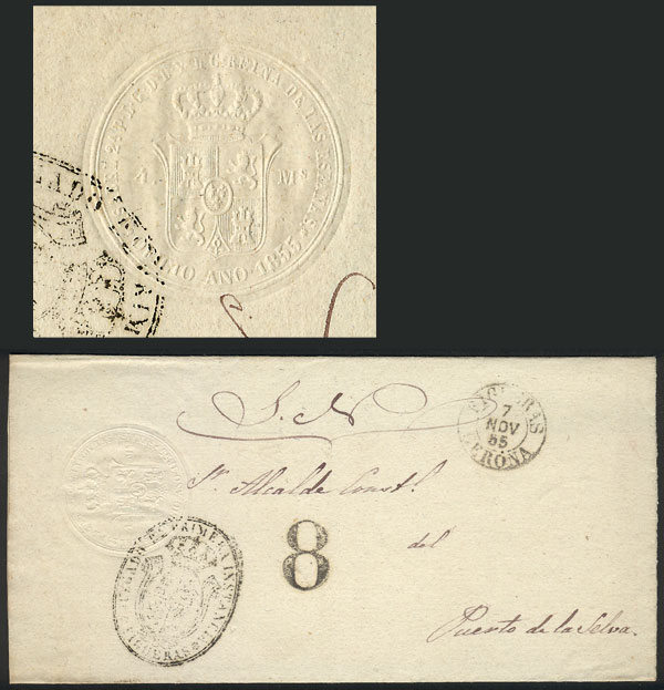 Lot 1004 - Spain postal history -  Guillermo Jalil - Philatino Auction #1920 WORLDWIDE + ARGENTINA: General May auction