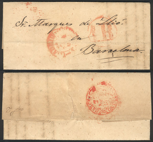 Lot 1002 - Spain postal history -  Guillermo Jalil - Philatino Auction #1920 WORLDWIDE + ARGENTINA: General May auction