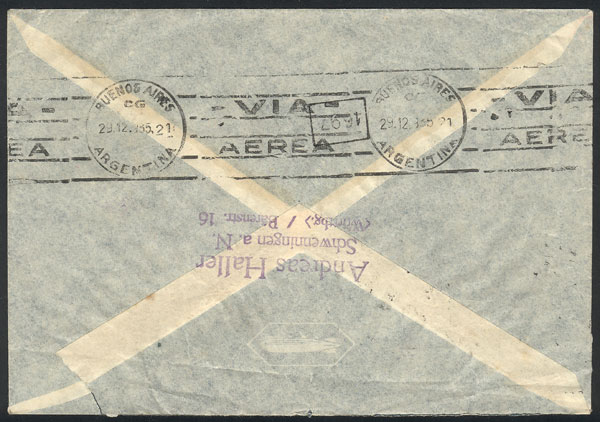 Lot 147 - germany postal history -  Guillermo Jalil - Philatino Auction #1920 WORLDWIDE + ARGENTINA: General May auction
