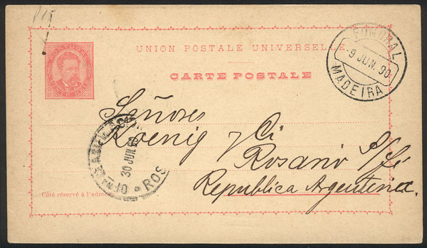 Lot 1328 - portugal - madeira postal history -  Guillermo Jalil - Philatino Auction #1920 WORLDWIDE + ARGENTINA: General May auction