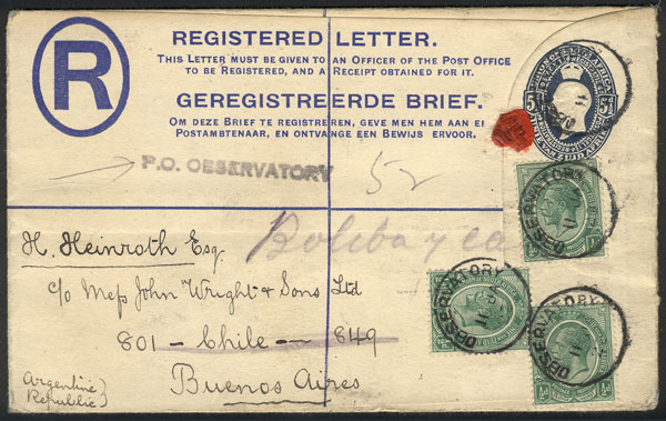 Lot 1356 - south africa postal history -  Guillermo Jalil - Philatino Auction #1920 WORLDWIDE + ARGENTINA: General May auction
