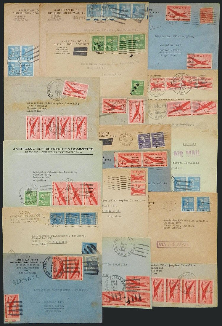 Lot 15 - TOPIC JUDAICA postal history -  Guillermo Jalil - Philatino Auction #1920 WORLDWIDE + ARGENTINA: General May auction