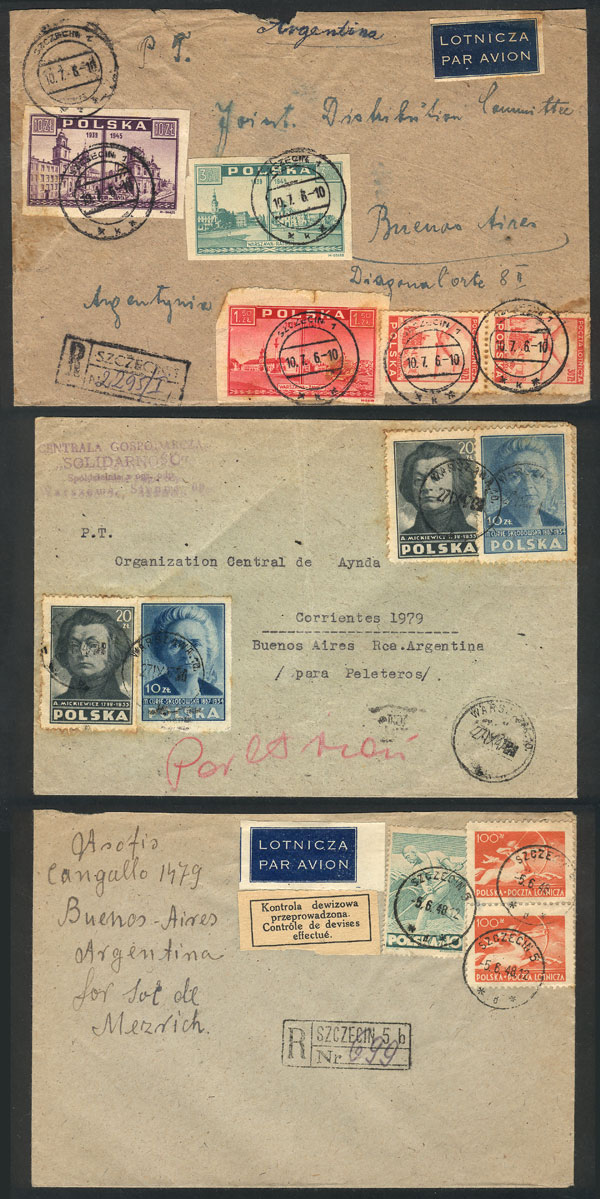 Lot 16 - TOPIC JUDAICA postal history -  Guillermo Jalil - Philatino Auction #1920 WORLDWIDE + ARGENTINA: General May auction