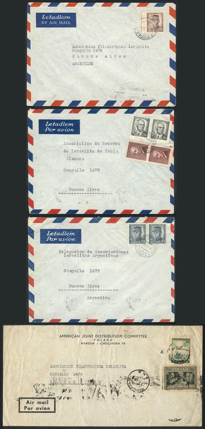 Lot 17 - TOPIC JUDAICA postal history -  Guillermo Jalil - Philatino Auction #1920 WORLDWIDE + ARGENTINA: General May auction