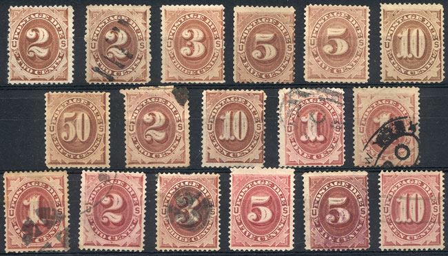 Lot 1020 - united states Postage due stamps -  Guillermo Jalil - Philatino Auction #1920 WORLDWIDE + ARGENTINA: General May auction